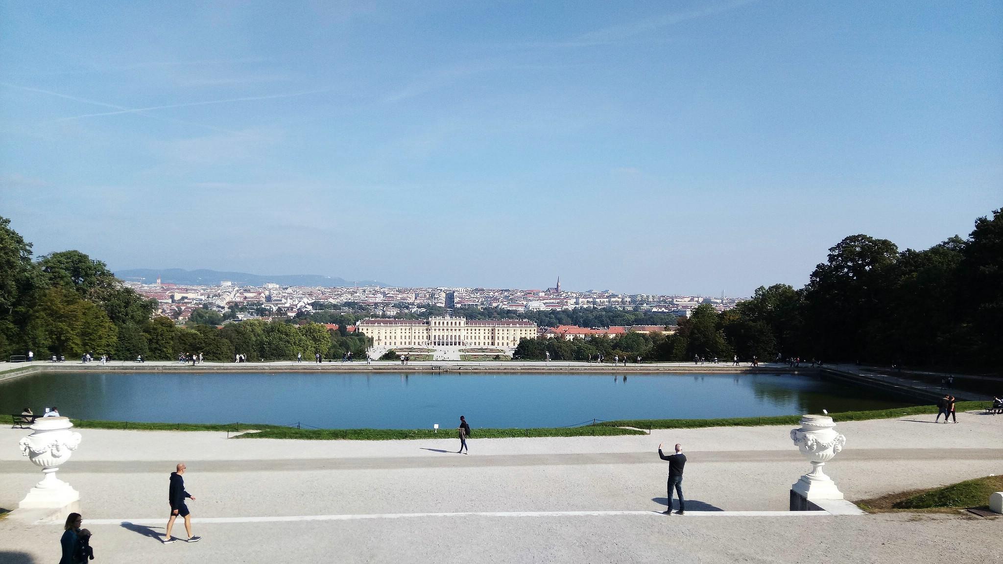 Blick über Wien von der Gloriette